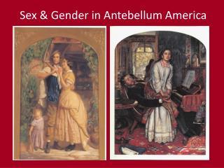 Sex & Gender in Antebellum America