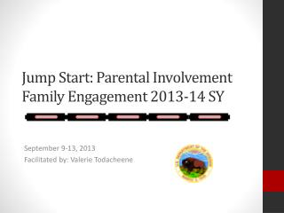 Jump Start: Parental Involvement Family Engagement 2013-14 SY