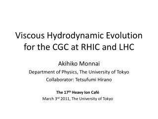 Viscous Hydrodynamic Evolution for the CGC at RHIC and LHC