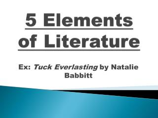 5  Elements of Literature