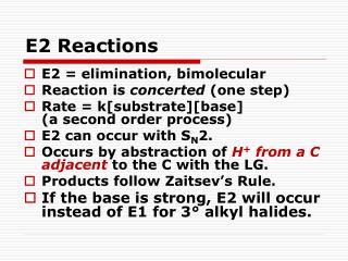 E2 Reactions