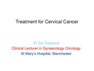 Treatment for Cervical Cancer