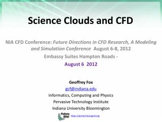 Science Clouds and CFD