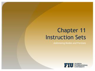 Chapter 11 Instruction Sets