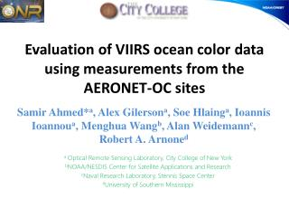 Evaluation of VIIRS ocean color data using measurements from the AERONET-OC sites