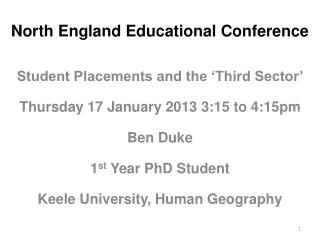 North England Educational  Conference