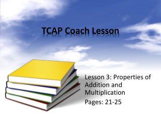 TCAP Coach Lesson