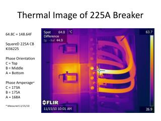 Thermal Image of 225A Breaker