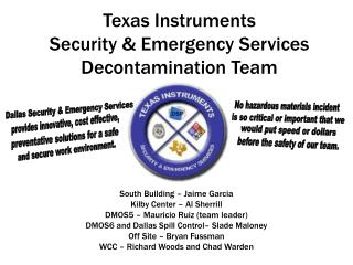 Texas Instruments Security  Emergency Services Decontamination Team