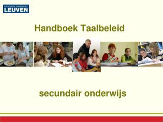 Handboek Taalbeleid