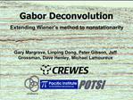 Gabor Deconvolution