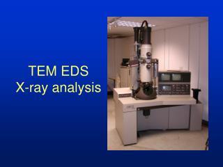 TEM EDS X-ray analysis