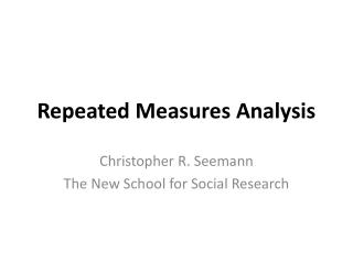 Repeated Measures Analysis