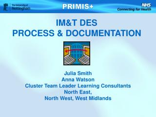 IM&T DES  PROCESS & DOCUMENTATION