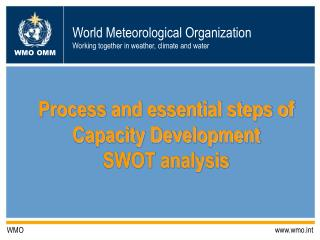 Process and essential steps of Capacity Development SWOT analysis