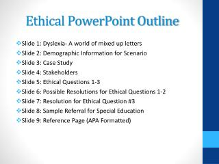 Ethical PowerPoint Outline
