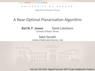 A Near-Optimal Planarization Algorithm