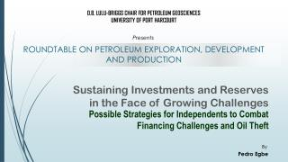 Sustaining Investments and Reserves in the Face of Growing Challenges