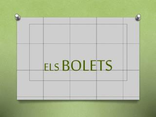 ELS  BOLETS