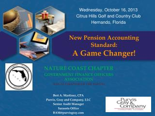 New Pension Accounting Standard: A Game Changer!