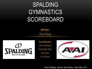 Spalding Gymnastics  Scoreboard