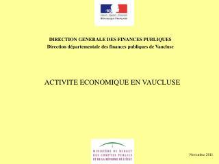 DIRECTION GENERALE DES FINANCES PUBLIQUES