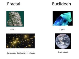 Fractal                             Euclidean