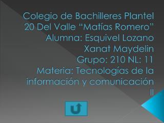 TECNOLOGIAS DE LA INFROMACIONM Y COMUNICACI�N