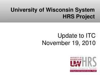 Update to ITC November 19, 2010