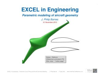 EXCEL in Engineering Parametric modeling of aircraft geometry