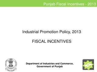 Punjab Fiscal Incentives - 2013
