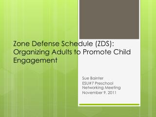 Zone Defense Schedule (ZDS): Organizing Adults to Promote Child Engagement