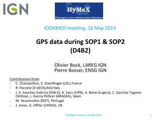 GPS data during SOP1 &  SOP2 (D4B2)