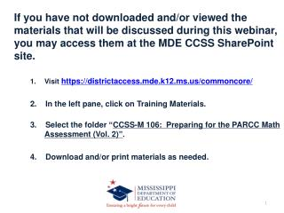 CCSS-M 106:   Preparing for the PARCC Math Assessment (Volume  2)