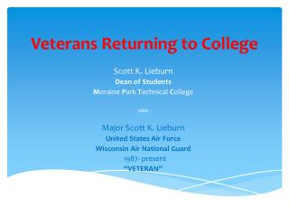 Veterans Returning to College