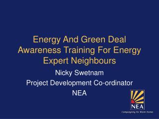 Transition Belper Energy and Green Deal Feb 2012