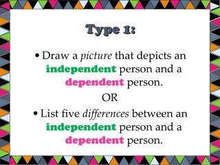 Type 1: