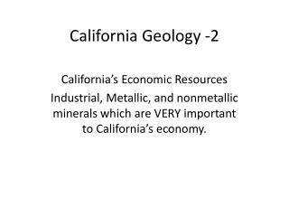 California Geology -2