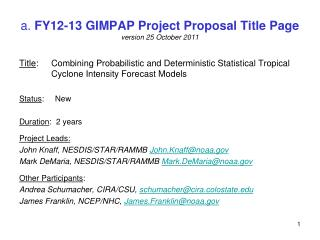 a.  FY12-13 GIMPAP Project Proposal Title Page version  25 October 2011