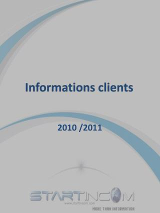 Informations clients
