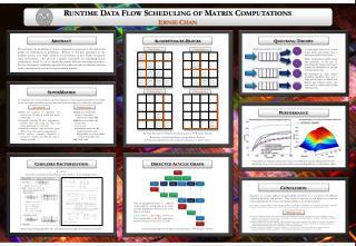 Runtime Data Flow Scheduling of Matrix Computations Ernie Chan