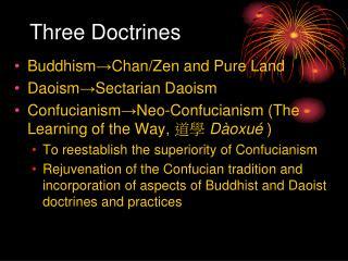 Three Doctrines