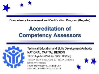 Technical Education and Skills Development Authority NATIONAL CAPITAL REGION
