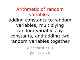 AP Statistics B pp. 373-74
