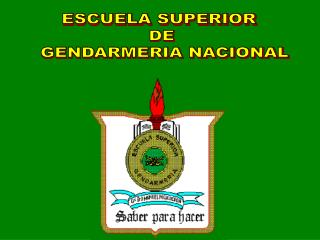ESCUELA SUPERIOR  DE  GENDARMERIA NACIONAL
