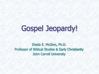 Gospel Jeopardy