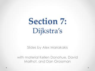Slides by Alex  Mariakakis with material  Kellen  Donohue, David  Mailhot , and Dan Grossman