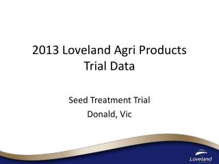 2013 Loveland Agri Products  Trial Data