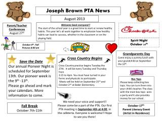 Joseph Brown PTA News