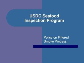 USDC Seafood Inspection Program